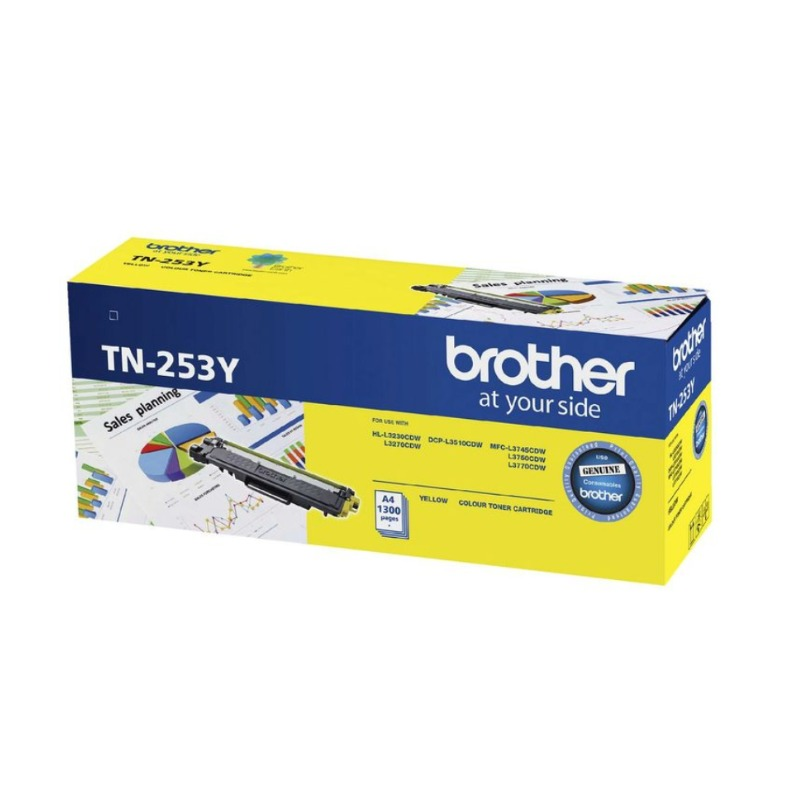 Brother TN-253Y Yellow Toner Cartridge, 1 300 pages