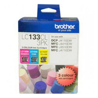 Brother LC-133CL3PK Colour Value Pack (Yield, up to 600 pages each)