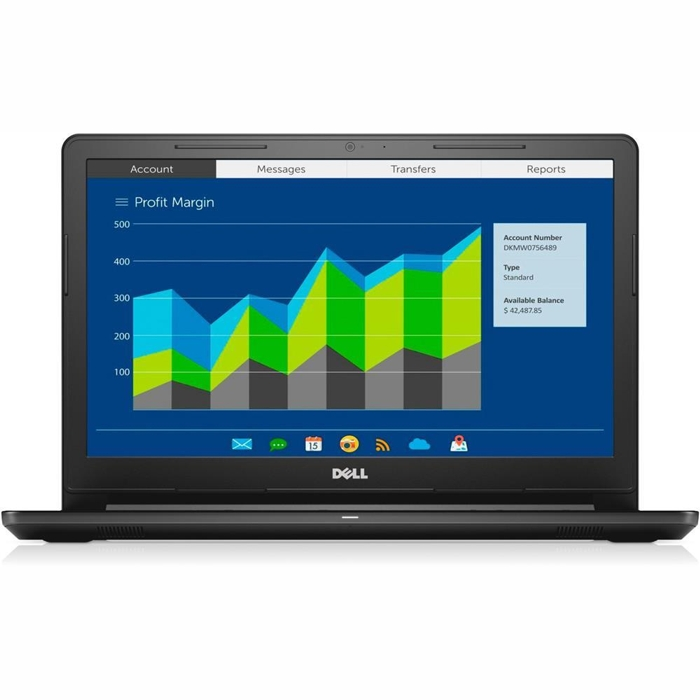 Dell Vostro, Core i7-7500U 2.7/3.5 Ghz, 8GB, 256GB SSD,15.6 Inch FHD,AMD-2GB, DVDRW, Win 10 Pro 64,1 Yr