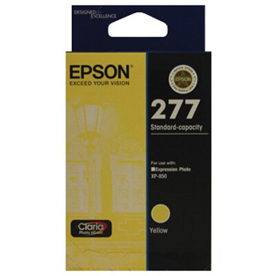 Epson C13T277492 Std Capacity Claria Photo HD Yellow ink (Yields up to 360 pages)