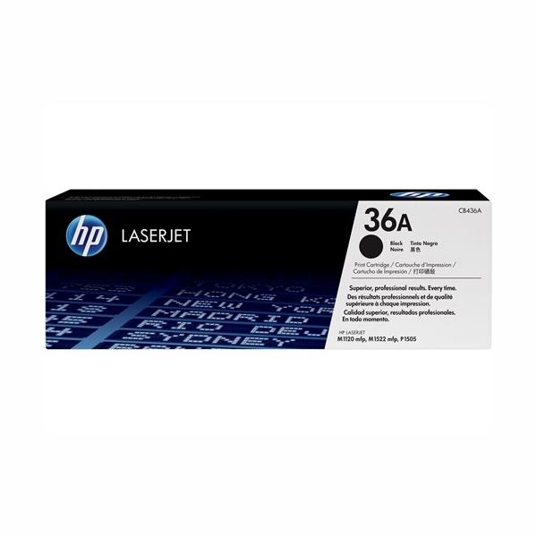 HP CB436A #36A Black Toner Cartridge (2,000 Yield)