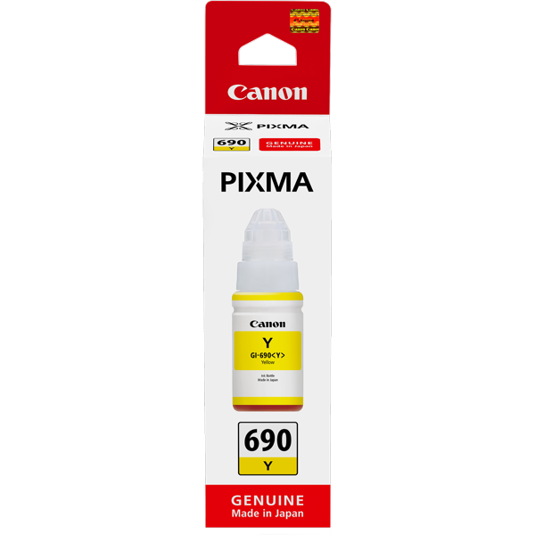 Canon GI690Y, Yellow Ink Bottle (Yield, up to 7,000 pages)