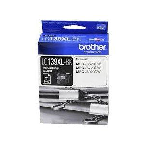 Brother LC-139XLBK Black Ink Cartridge (Yield, up to 2,400 pages)