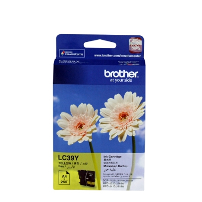 Brother LC-39Y Yellow Ink Cartridge