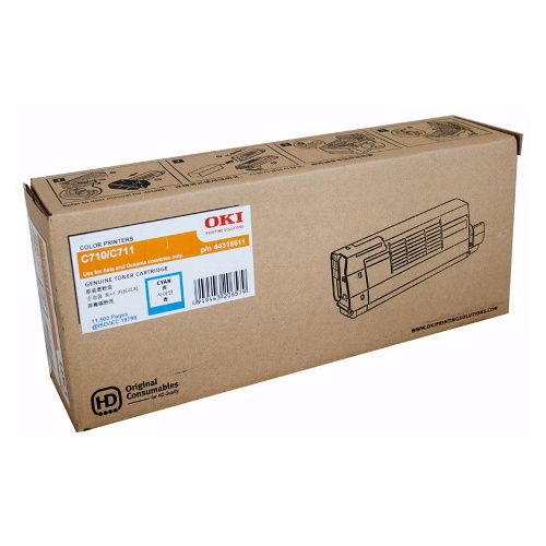 OKI 44318611 Cyan Toner Cartridge for C710/C711n (11,500 Yield @ 5% Coverage)