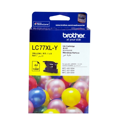 Brother LC-77XLY Super High Yield Yellow Ink Cartridge