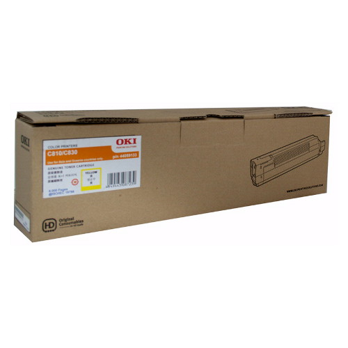 OKI Yellow Toner Cartridge for C810/830N (8,000 Pages)