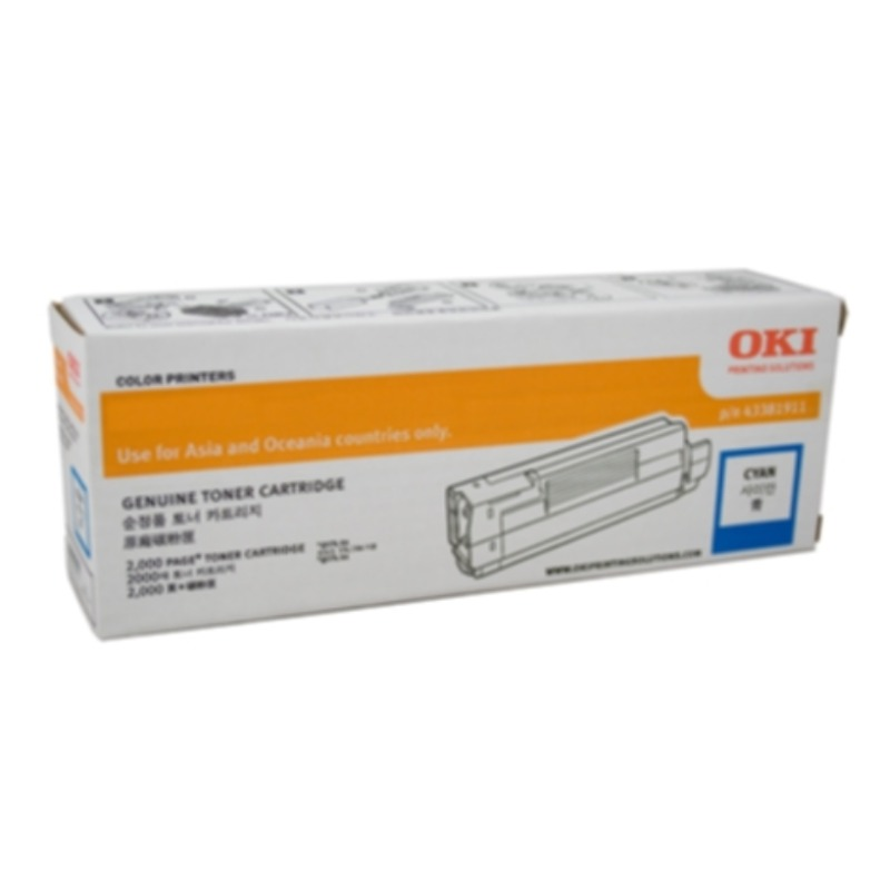 OKI 46507611 Cyan Toner Cartridge For C712n; 11,500 Pages @ (ISO)