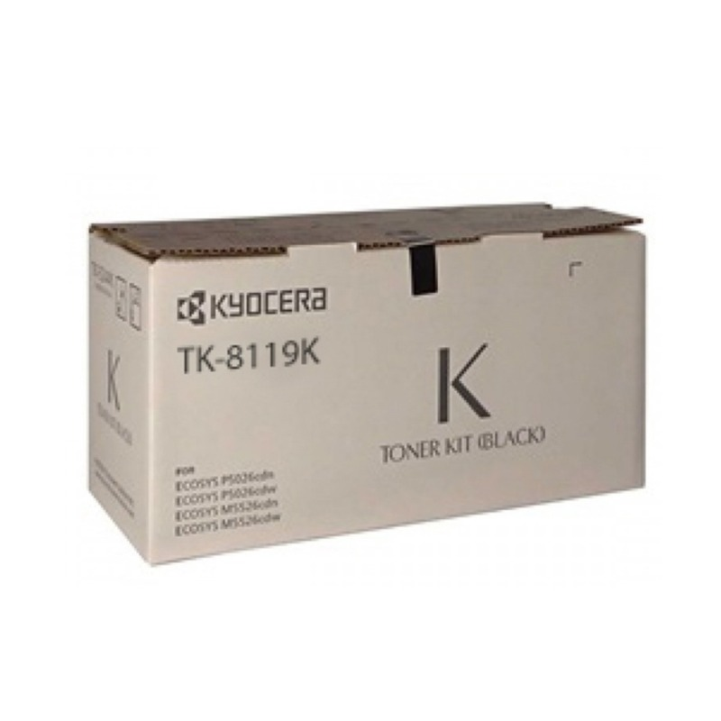Kyocera TK-8119K Black Toner Cartridge (12,000 pages)