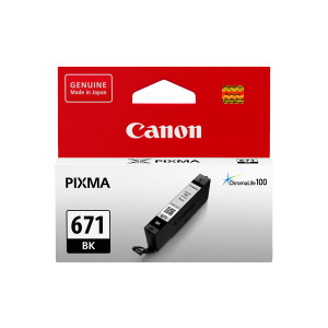 Canon CLI671BK Standard Capacity Photo Black Ink Tank to suit MG5760/6860/7760 (Yield, 1,795 pages)