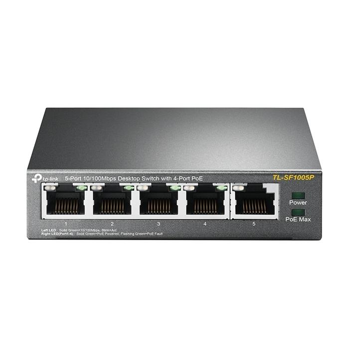 TP-Link TL-SF1005P 5-Port 10/100Mbps Desktop Switch with 4-Port PoE