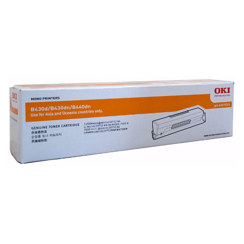 OKI 43979203 Toner Cartridge for B430/B440, MB470MFP/MB480MFP (7,000 Pages)