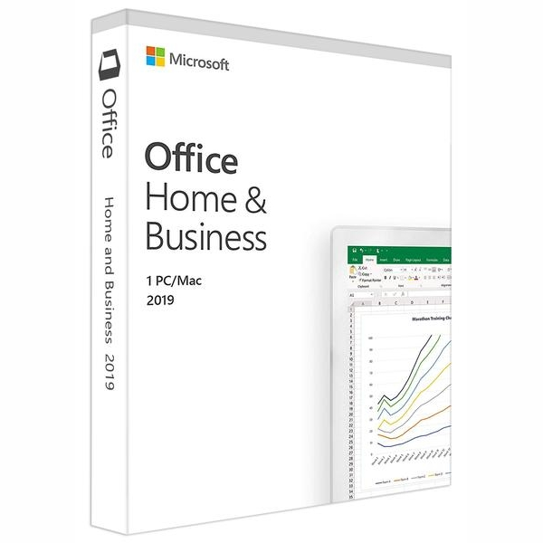 Microsoft T5D-03251 Office Home and Business 2019, Medialess, Retail Box