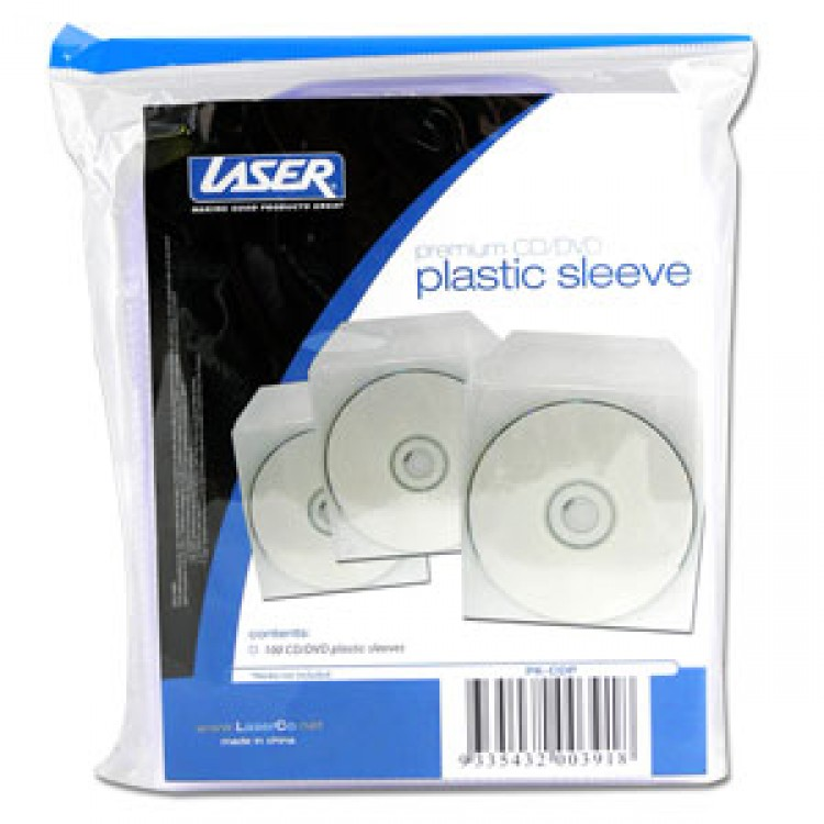 Laser PK-CDP 100 Pack PVC CD Sleeves