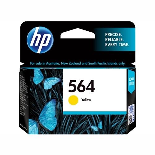 HP CB320WA #564 Yellow Ink Cartridge (300 page yield)