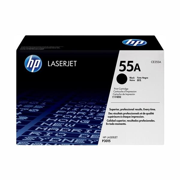 HP CE255A #255A Black Toner Cartridge (6,000 Yield)