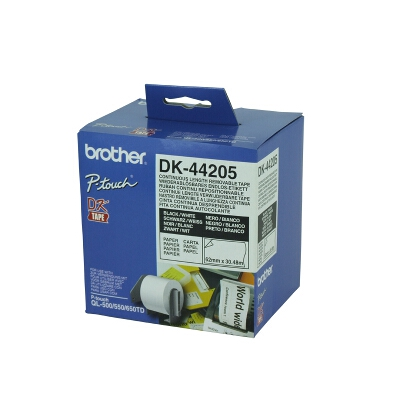 Brother DK-44205 Removeable White Continuous Paper Roll 62mm x 30.48M