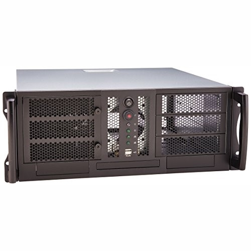 Chenbro RM42300 Black 4U 19 Rackmount Chassis for CEB/ATX board, 3x5.25 Inch,1x3.5 InchExt and 4x3.5 InchInt Bays