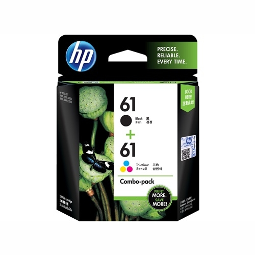 HP CR311AA #61 Black and Colour Ink Cartridges (Black 190 page yield, colour 165 page yield)