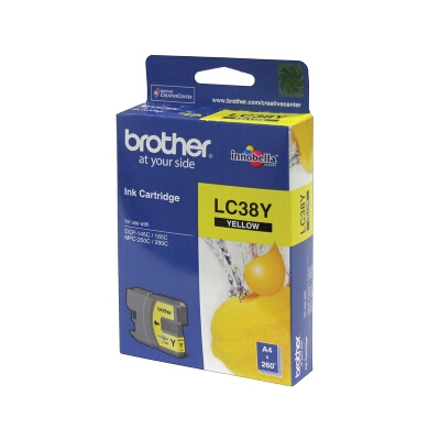 Brother LC-38Y Yellow Ink Cartridge for DCP-145C/165C