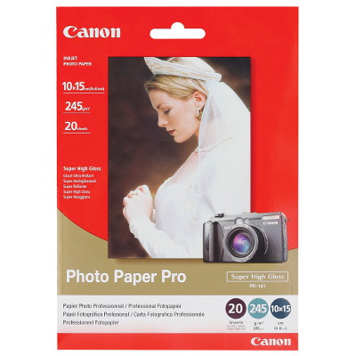 Canon PR1014X6 Archival-Quality Professional High Gloss 6x4 Photo Cards 245gsm 20 Sheets per pack