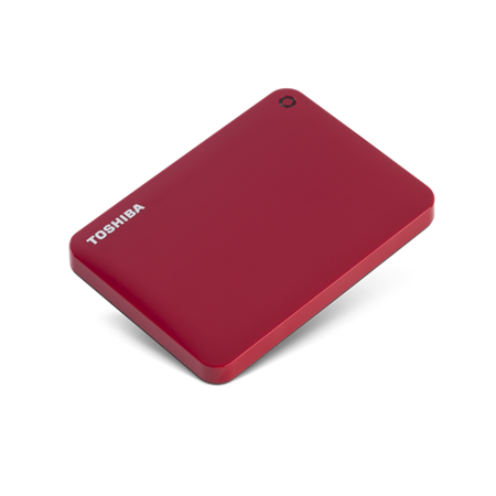 Toshiba HDTC820AR3C1 Connect II Portable 2TB 2.5 Inch USB HDD with Backup Software, Red