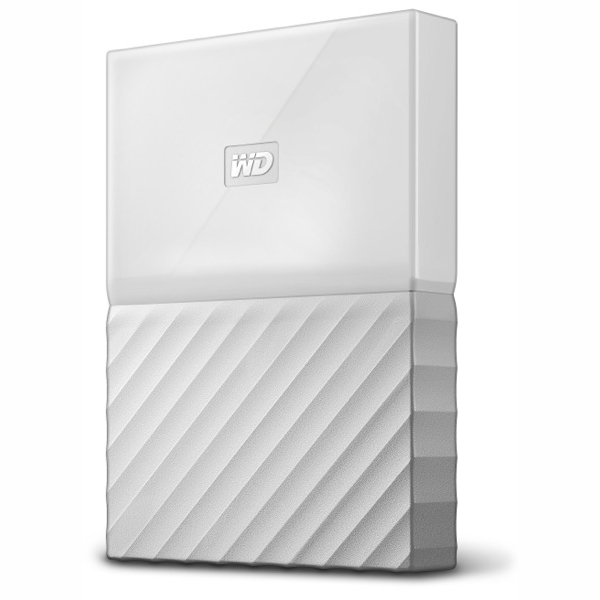 Western Digital My Passport 1TB External USB 3.0 Portable HDD - White