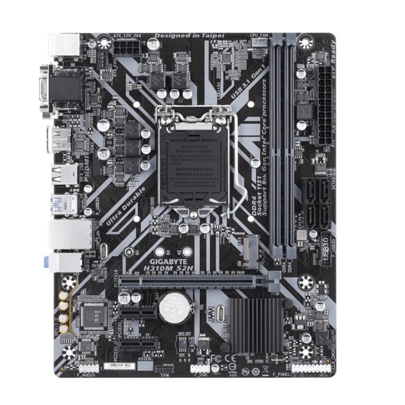 Gigabyte GA-H310M-S2H MB, 1151, 2xDDR4, 4xSATA, 1xM.2, USB3.1, uATX, 3 Yr