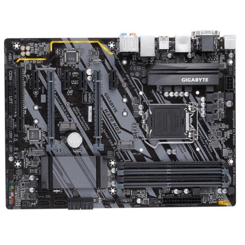 Gigabyte GA-H370-HD3 MB, 1151, 4xDDR4, 6xSATA, 2xM.2, USB3.1, ATX, 3 Yr