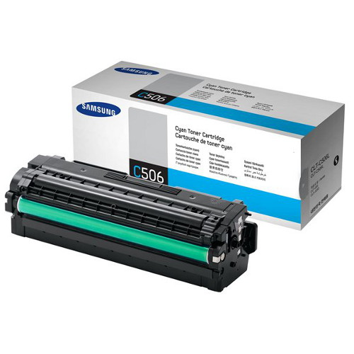 Samsung CLT-C506L Cyan Toner for  CLP-680, CLX-6260 (Average 3,500 page yield)
