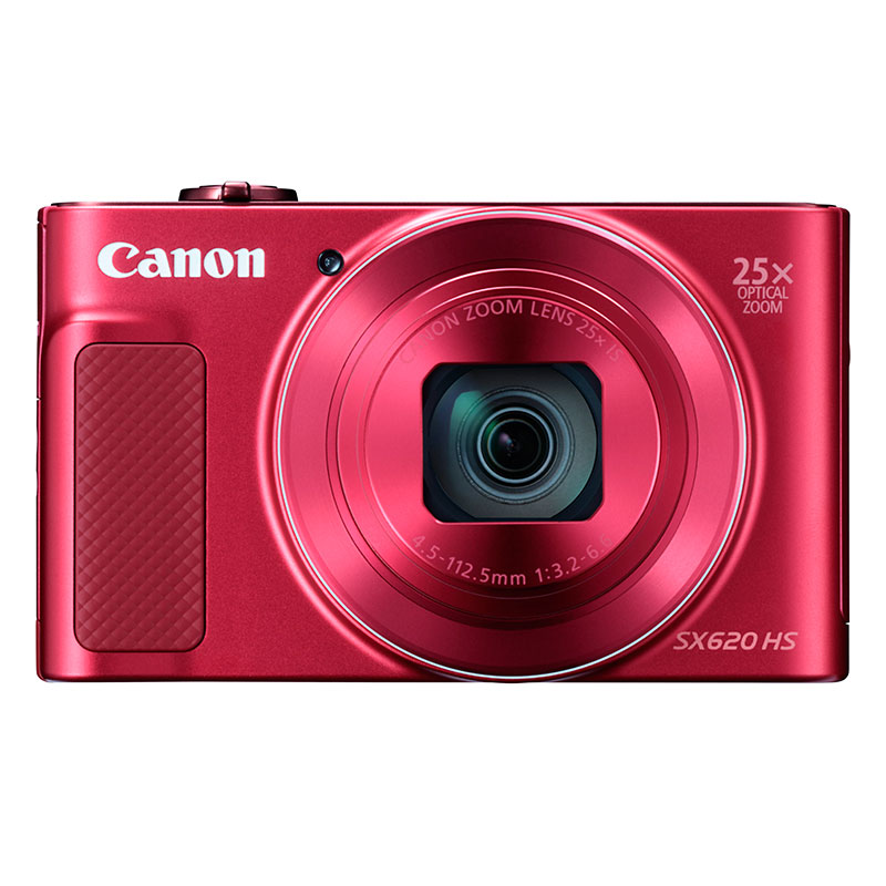 Canon SX620HSR 20.2MP Digital Camera with 25 x Optical Zoom - Red