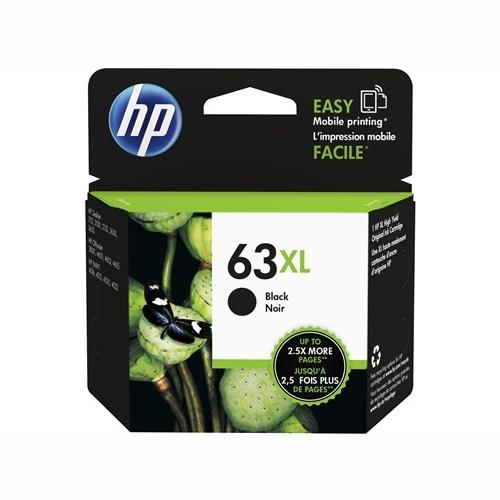 HP F6U64AA #63XL High Yield Black Ink Cartridge (480 page yield)