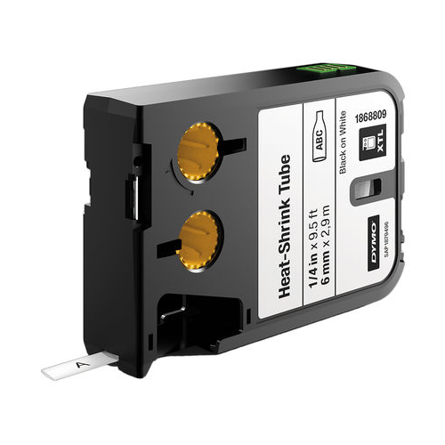 DYMO XTL 6mm Black/White HST Cont Tape