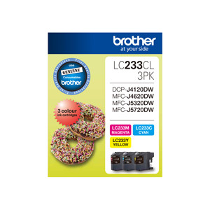 Brother LC-233CL3PK Colour Value Pack (Yield, up to 550 pages)
