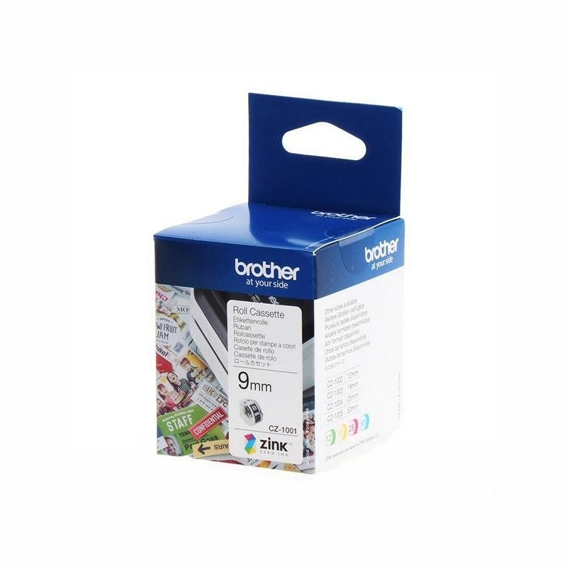 Brother CZ-1001 9mm Cassette Roll, 5m Length