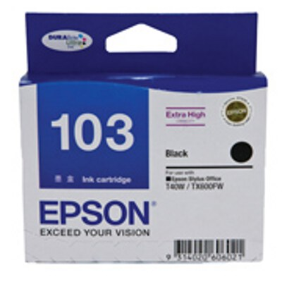 Epson Black Ink Cartrdige (High Yield) to suit Printers: TX600FW, T30, T40W