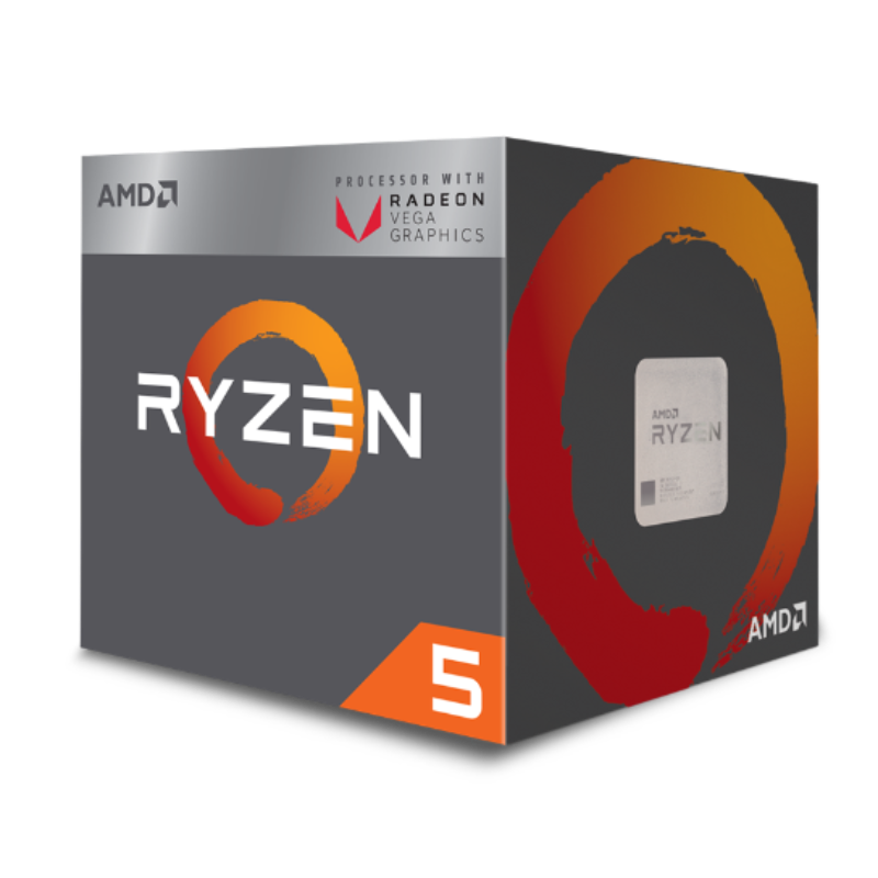 AMD Ryzen 5 2400, 6-Core/12-Thread, Unlocked, 3.9GHz, Socket AM4 with Wraith Stealth cooler