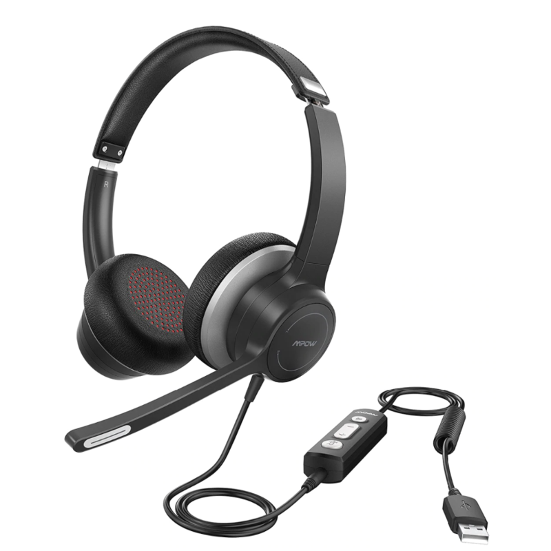 Mpower BH328A Computer Headset with Microphone, USB + 3.5mm Audio Plug