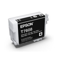 Epson C13T760800 UltraChrome HD, Matte Black Ink Cartridge