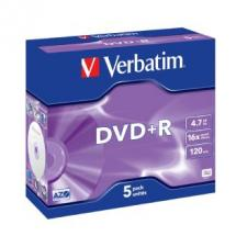 Verbatim DataLife DVD+R, 4.7GB, Jewel Case, 5 Pack, 16x Max