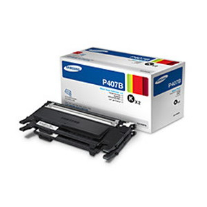 Samsung CLT-P407B Twin Black Toner Value Pack for CLP-32x, CLX-3185 Series