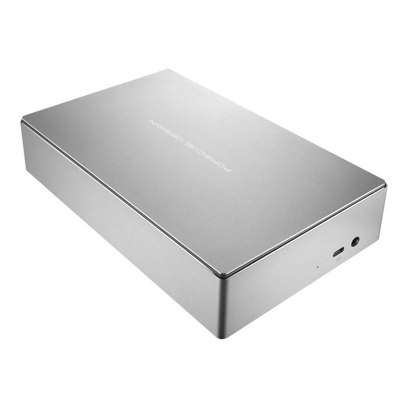 LaCie STFE8000401 8TB Porsche Design USB3.0 and USB-C Desktop Drive (Silver)