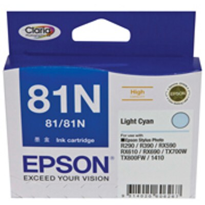 Epson C13T111592 High Capacity Light Cyan Cartridge (same as C13T081590)(Yields up to 855 pages)