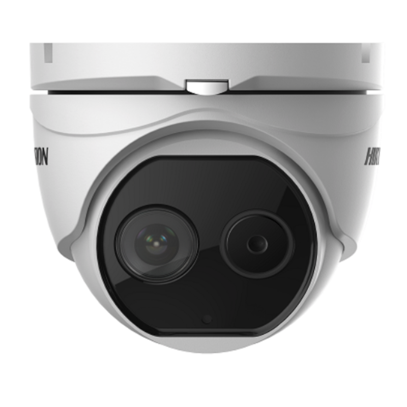 Hikvision DS-2TD1217-6V1 DeepInView Thermal and Optical Dome Camera, IP67, 160x120, 6.2mm