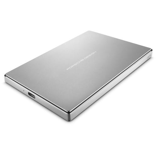 LaCie STFD2000400 2TB Porsche Design USB-C Portable Drive (Silver)