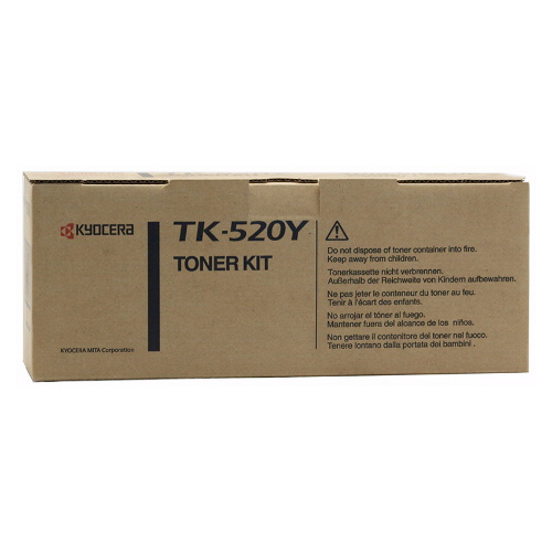 Kyocera TK-520Y Yellow Toner (4,000 Yield)