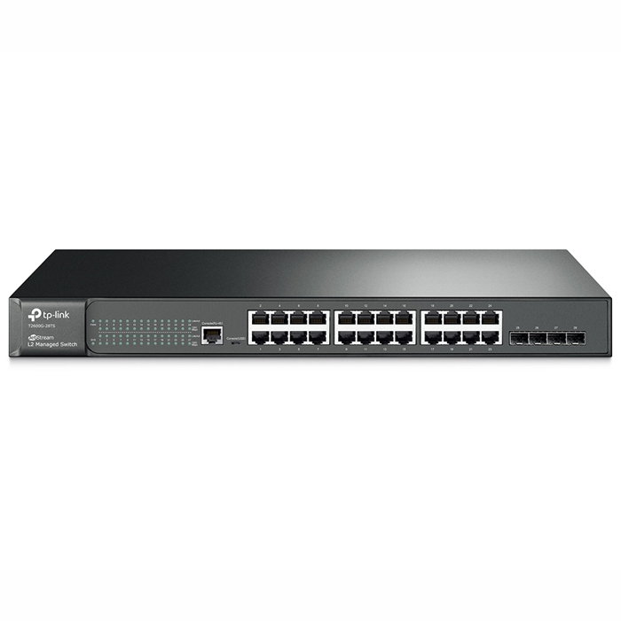 TP-Link T2600G-28TS (TL-SG3424) 24-Port Gigabit L2 Managed Switch with 4 SFP Slots