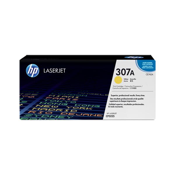 HP CE742A #307A Yellow Toner Cartridge (7,300 Yield)