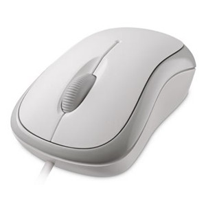 Microsoft P58-00066 Basic Optical Mouse - White