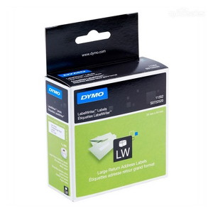 DYMO RETURN ADDRESS - PAPER/WHITE  25mm x 54mm 1 Roll/Box 500 Labels/Roll